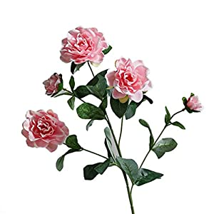 Artificial Flowers HXF- Fake Flower Simulation Gardenia Flower Decoration Living Room Interior Dining Table Coffee Table TV Cabinet Floral Fashion (Color : A)