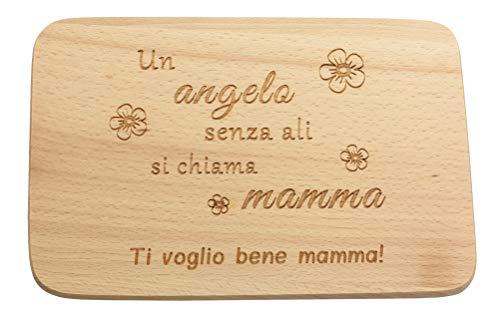 Con scritta, qualità premium, 100% emozionante, tagliere per la colazione in legno, tagliere con incisione, regali per la mamma