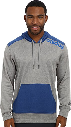 adidas Performance Ultimate Linear Logo Sudadera con capucha para hombre - M63628, L, Ch Solid Grey/Blue Beauty