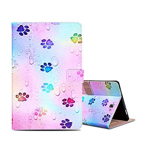 ONETHEFULCarcasaLibroFundaTabletSamsung Galaxy Tab A / A6 10.1' 2016 T580 T585CoverFundasProtectorconPU CueroySoporte- Impresión de Perro