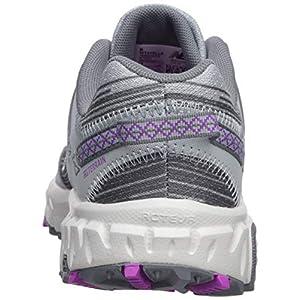 New Balance Women's 410 V6 Trail Running Shoe, Light Cyclone/Gunmetal/Voltage Violet, 7.5 W US