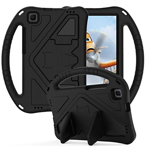QYiD Case for Galaxy Tab A 8.0 2019 (SM-T290/T295), Light Weight Kids Friendly Non-Toxic EVA Shockproof Silicone Handle Stand Case for 8.0 Inch Galaxy Tab A SM-T290 SM-T290, Black
