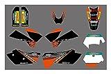 Tatumyin 3M Motorcycle Team Graphics Delcas Pegatinas para KTM 125 200 250 300 350 400 450 525 Exc SXF SX XC MXC 2005-2007 hnszf