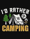 I'd Rather Be Camping: Nature exploring kit,Adventure binoculars,Diario de viaje,Explorer book,Bug map,Rv gift ideas