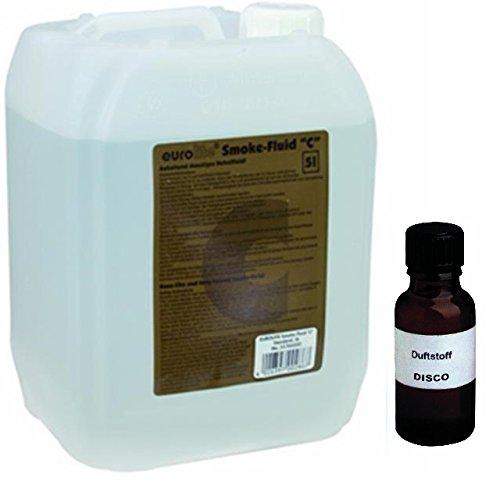 5 Liter Eurolite C (Standard) Nebelfluid + 30 ml Duftstoff Disco-Energy, Smoke-Fluid, Nebel-Fluid-Flüssigkeit für Nebelmaschine