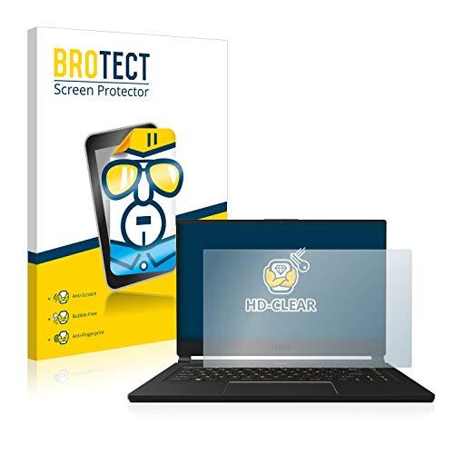 BROTECT Schutzfolie kompatibel mit MSI GE75 8SF-256DC klare Bildschirmschutz-Folie