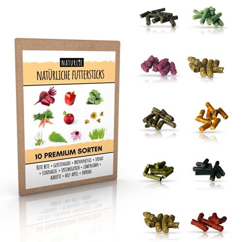 Naturlie Futterstick Set - 10x10g leckere Futter Sticks für Garnelen, Krebse, Schnecken & Welse - Premium Aquarium Garnelenfutter, Schneckenfutter, Krebsfutter