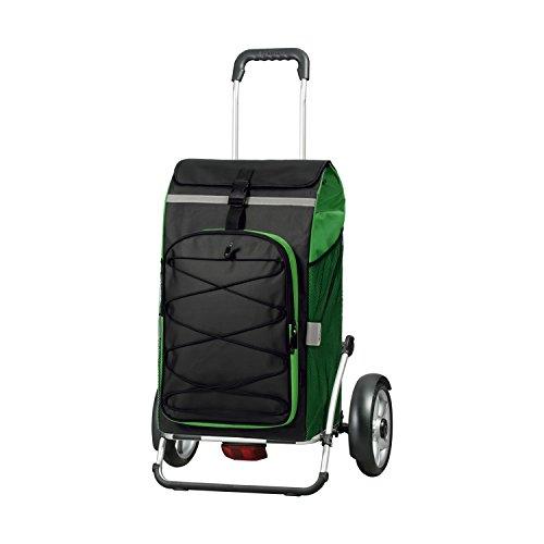Andersen Shopper Royal Plus mit kugelgelagertem Rad 25 cm und 72 Liter Tasche Fado grün mit integriertem Kühlfach und Regencape