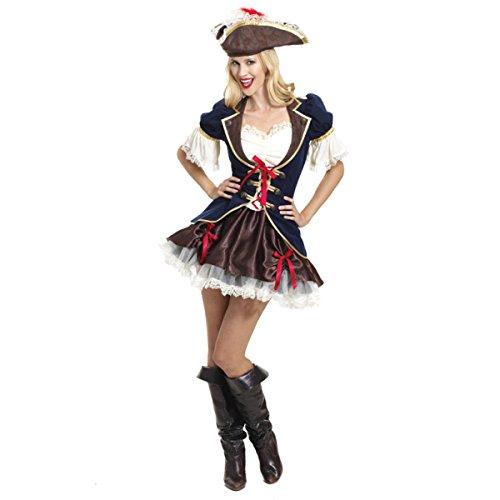 Emmas Wardrobe Fancy Dress Capitán del Pirata de Las Mujeres