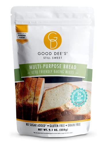 Good Dees Low Carb Baking Mix, Multi-Purpose Keto Bread Mix, Keto Baking Mix, Gluten Free, No Sugar Added, Grain-Free, Dairy-Free, Diabetic (2g Net Carbs, 12 Servings)