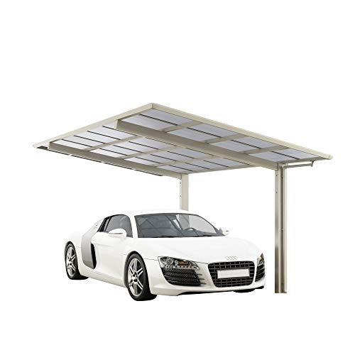 *XIMAX Design-Carport Linea Typ 80 (Edelstahl-Look)*