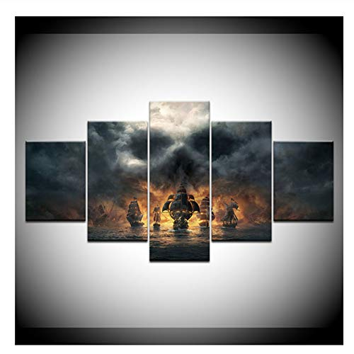 nr Leinwand Malerei Fluch der Karibik Film Wandkunst Bilder Tapeten Poster Drucken für Wohnzimmer Decor-40x60 40x80 40x100 cm Kein Rahmen