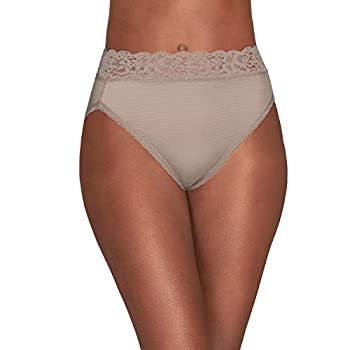 Vanity Fair Women s Flattering Lace Panties with Stretch Hi Cut - Nylon - Toasted Coconut 8