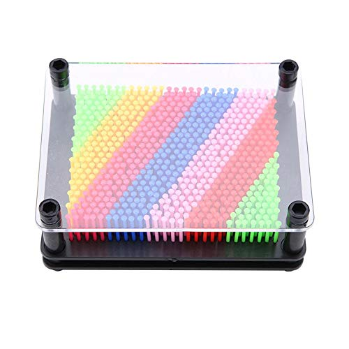 Wal front 3D Colorful Pin Art Board Hand Model Interesting Durable Novel Pin Art for Kids Home Office Decoration(黑底小号)