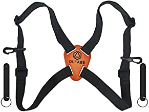 OUFABE Binocular Harness Strap, Binocular Strap, Adjustable and Deluxe Binoculars Harness for Hunting, Cross Binocular Straps Harness, Fits for Carrying Binocular, Cameras, Rangefinders and More