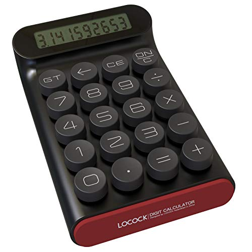 Mechanical Switch Calculator,Handheld for Daily and Basic Office,10 Digit Large LCD Display (Black)