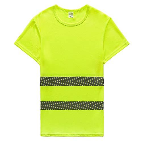 FEOYA Hi viz T Shirt Sicherheits Arbeitskleidung Hoch Visability Kurzarm Tops Tshirt