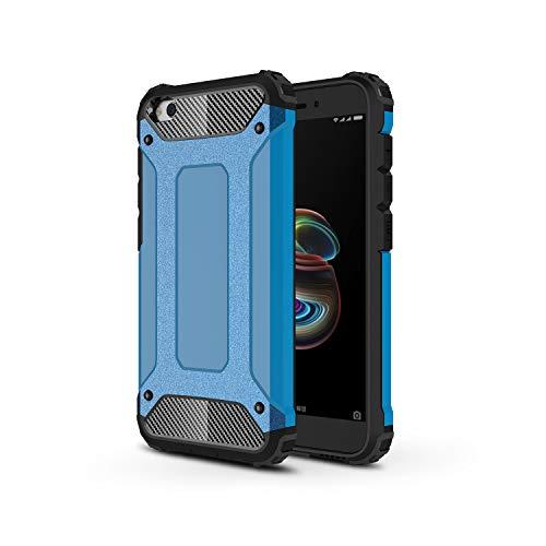 TANYO Funda Adecuado para Xiaomi Redmi Go, Heavy-Duty Anti-Caída Phone Case, Extraíble 2 en 1 a Prueba de Golpes Robusto y Durable Fashion Ultra-Thin Funda Protectora, Azul