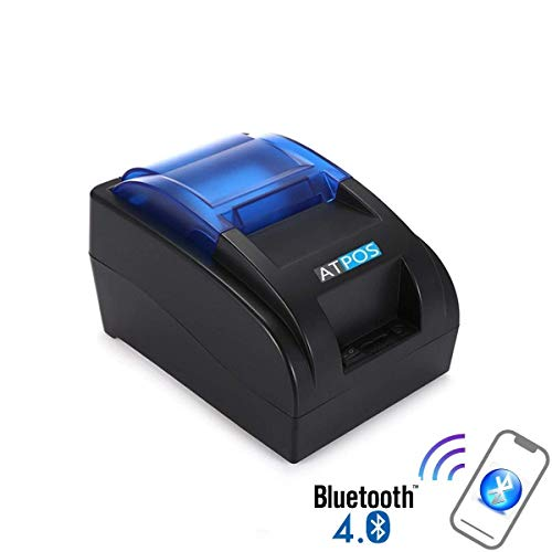 ATPOS Wireless Bluetooth 4.0 H58BT Thermal Receipt Printer | 58MM (2 Inch) Kiosk ESC/POS Print Billing Mobile Printing
