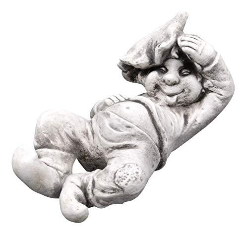 gartendekoparadies.de Lustiger Gnom ich, der Faulpelz aus Steinguss, frostfest