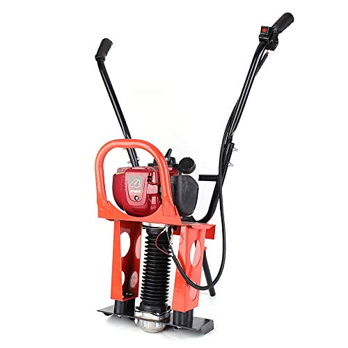 4 Stroke Gas Concrete Wet Screed Commercial Power Screed Vibratory Screed Power Unit Wet Concrete Screed Board Cement 37.7CC 1.2HP Road Construction Fits 1-6M Blade
