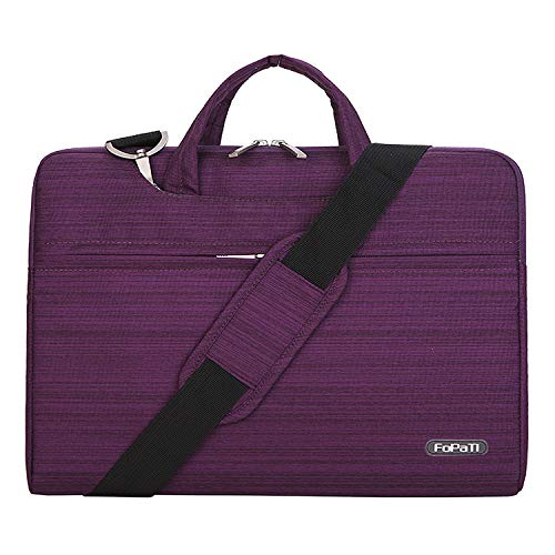 FOPATI 11-11.6 inch Laptop Case, Laptop Shoulder Bag, Multi-functional Notebook Sleeve, Protective Bag Carrying Case With Strap for Chromebook Macbook HP Stream Samsung Acer Asus Dell Lenovo, Purple