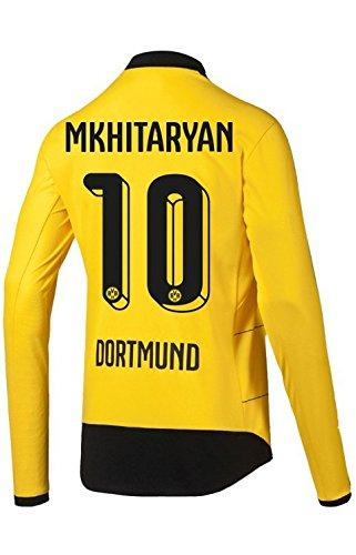 Puma BVB Borussia Dortmund Home Trikot Langarm Herren 2016 - MKHITARYAN 10, Größe:2XL