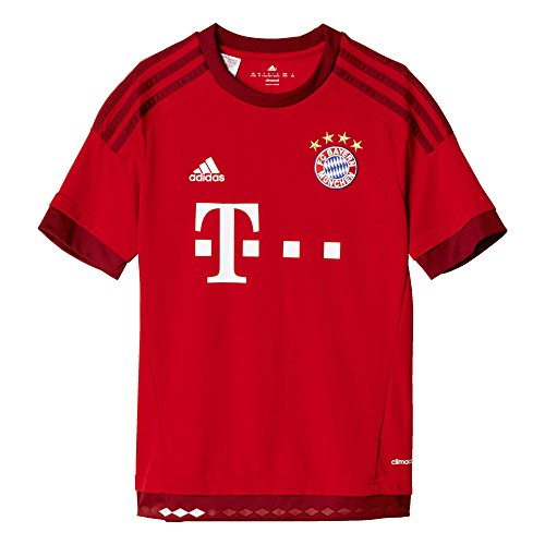 adidas Jungen Fußballtrikot FC Bayern München Heim Replica, FCB true red/craft red, 176, S08605