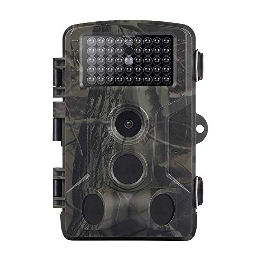Peaches Stores Mini Wildkamera Hunting Camera, Fotofalle 12MP HD Wildtierkamera Jagdspielkamera mit Bewegungsmelder Nachtsicht für Natur im Freien, Jagd, Haussicherheit