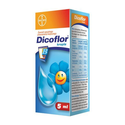 Dicoflor drops for infants and children - 5 ml.