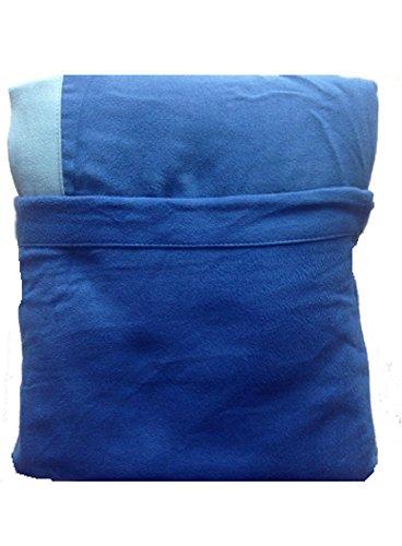 Marilyn Coprilettino Telo Mare Lettino Sdraio con Tasche e Borsetta in Microfibra (Azzurro Tasche Celesti)