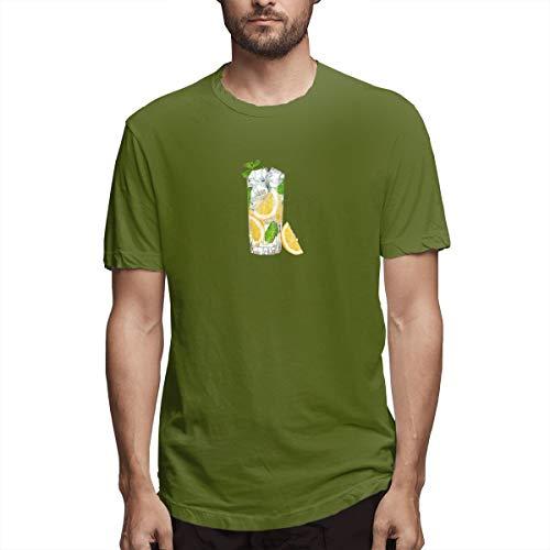 Hemd Limonade Zitrone Limette Getränk Wasser Zitrone EIS Adbdcdba Herren Baumwolle lässig T-Shirt