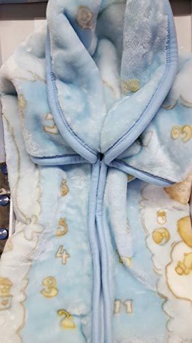 Baby sacco copertina coperta pile culla carrozzina bimbo neonato T&R cielo giallo e rosa (colore da comunicare)
