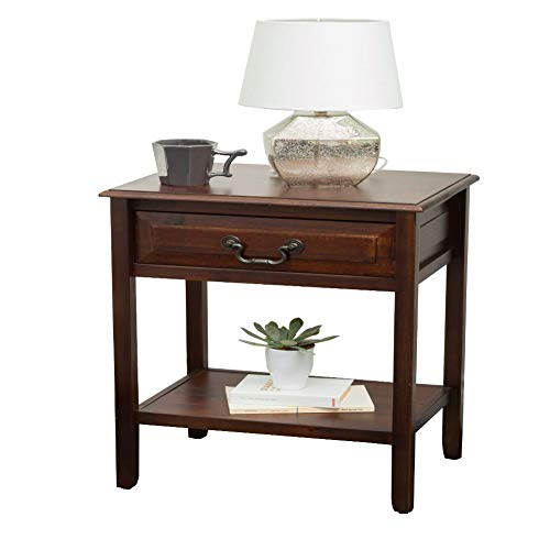 Christopher Knight Home Banks Acacia Wood Accent Table, Brown Mahogany