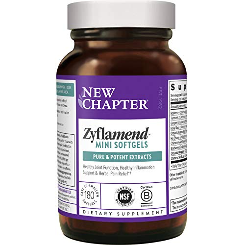 New Chapter Mini Softgels for Herbal Pain Relief - Zyflamend Whole Body Mini Softgels for Healthy Inflammation Response - 180 ct