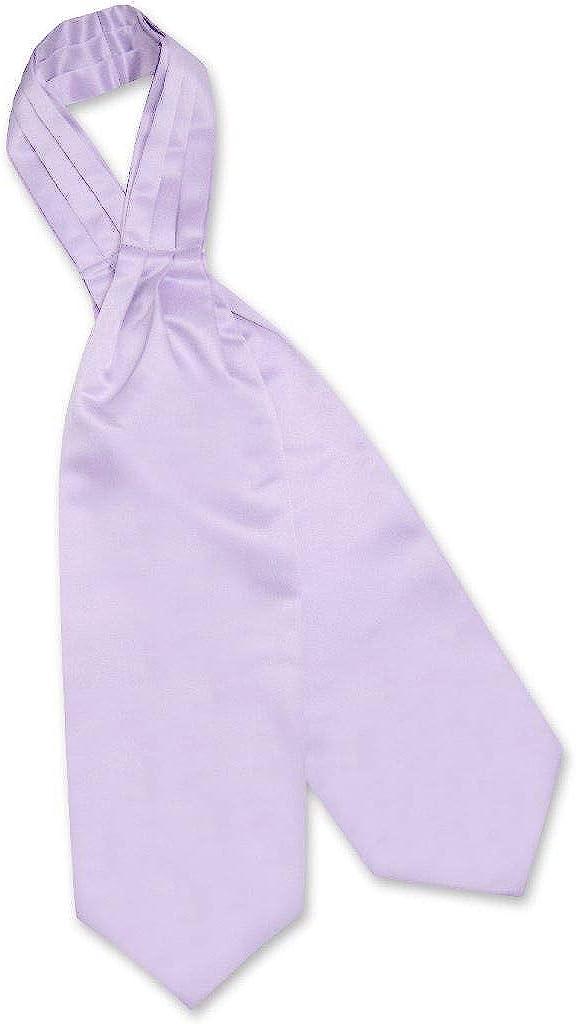 Vesuvio Napoli ASCOT Solid Lavender Light Purple Color Cravat Men's Neck Tie