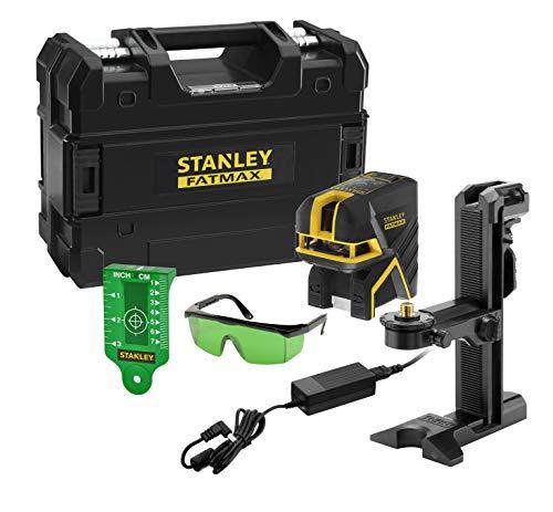 STANLEY FATMAX FMHT77597-1 - Nivel láser lineas cruzadas + 2 puntos verde, 30 m