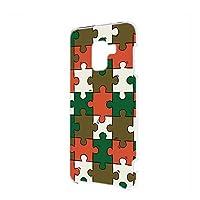 FFANY Galaxy Feel2 (SC-02L) 用 スマホケース ハードケース パズル柄・ベーシック おもしろ ゲーム パロディ SAMSUNG サムスン ギャラクシー フィールツー docomo スマホカバー 携帯ケース 携帯カバー puzzle_aao_h190732