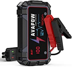 AVAPOW Jump Starter 1500A Peak Current Jumper Cables Kit for Car(Upto 12V 7L Gas/5.5L Diesel Engine) with USB Quick Charging and 400 Lumen LED Jump Starter Battery Pack