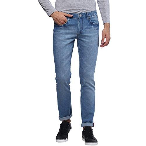 Urbano Fashion Men's Light Blue Slim Fit Stretchable Jeans