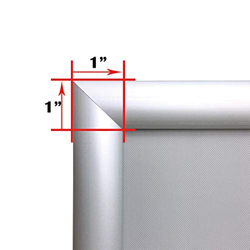 Aluminum Snap Frame for Poster 8.5 x 11 Inches, 25mm Profile, Color Silver Photo #5