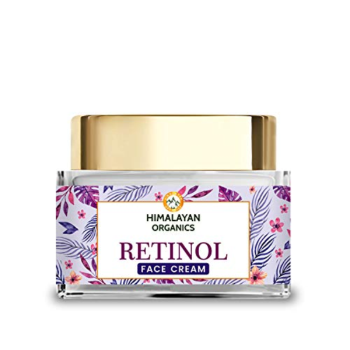 Himalayan Organics Retinol Night Cream for women for wrinkles, lines and skin dullness | with Hyaluronic Acid & Vitamin E | 50ml
