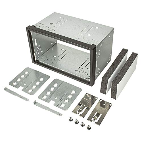 tomzz Audio 2400-008 2DIN Doppel DIN Metal Rahmen Einbauschacht Radioblende Einbausatz Einbaurahmen