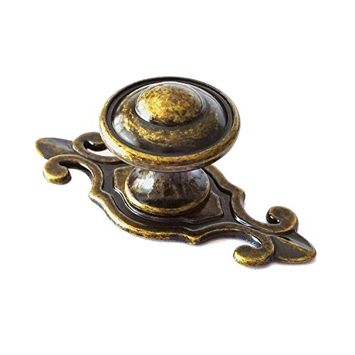 MOOD.SC Vintage antike Schublade Knöpfe Dresser Knöpfe Pulls Griffe Dunkel geölte Red Bronze Retro-Küche-Kabinett,Antiquebronze