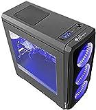 Natec Genesis Titan 750 Torre Negro, Azul - Caja de ordenador (Torre, PC, ABS sintéticos, SPCC, Negro, Azul, ATX,Micro ATX,Mini-ITX, Juego)