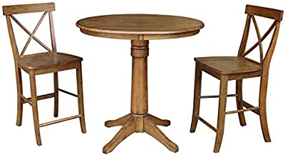 Fantastic Amazon Com Diamond Sofa 53 Inch Round Dining Table With Ocoug Best Dining Table And Chair Ideas Images Ocougorg