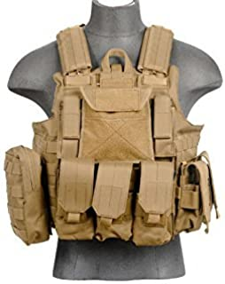 LT 303T MOLLE PALS Military Training Hunting Gaming Vest with Web Modular System Tan FDE Fit Small Medium Large Sizes
