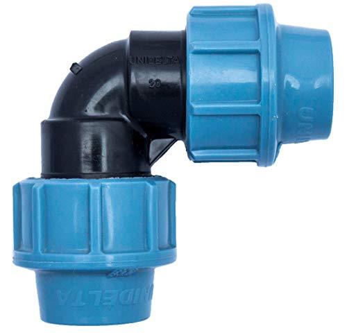 Codo para tubería de agua de 20 mm, 90 grados, racor por co