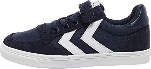 Hummel Unisex-Kinder Slimmer Stadil Low Jr Sneaker Niedrig, Dress Blue, 39 EU