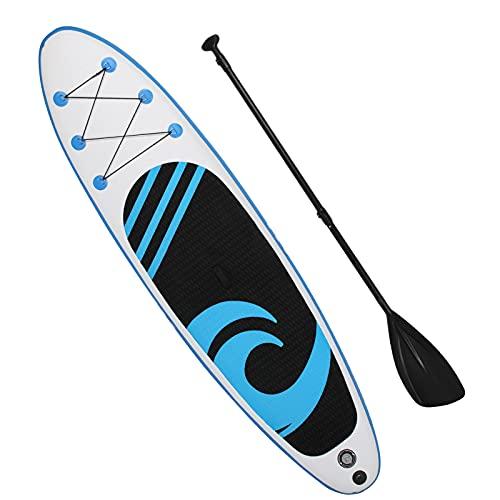 AYNEFY Tabla de surf, práctica y fiable conveniente para el hogar (azul claro, blanco)